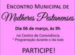 Encontro de Mulheres Pestanenses será no dia 6