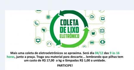 Augusto Pestana realiza ação de coleta de eletroeletrônicos